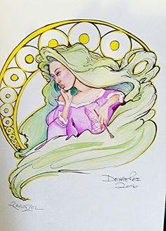 Rapunzel by Derae Rai  Disney Tangeled fan art-doodle of the day  Joker inspired Disney Princess self portraits
