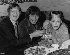 Toasting bride Judy Garland (1922 - 1969) are the best man, singer Johnnie Ray, left, and the groom Mickey Deans, during the wedding reception at Quaglino's, London. Description from gettyimages.com. I searched for this on bing.com/images