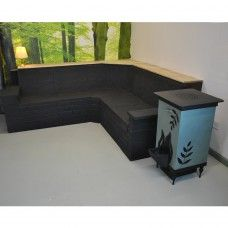 Rocket Stove and Thermal Mass Sofa - Custom Made  Www.leylandstoves.co.uk