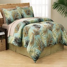 Palm Bed In A Bag 100 00 Tree Bedding Tropical Pillows