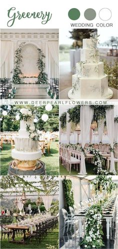 greenery and ivory white wedding color ideas #wedding #weddings #weddingideas #greenweddings #dpf
