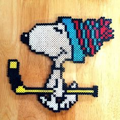 Snoopy perler beads by myjsi000