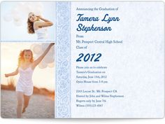 Magnetic Graduation Announcements - Graceful Glamour