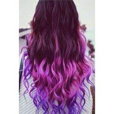 Purple Fuchsia Gradual Color Hair Extension