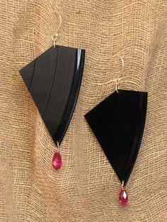 vinyl earrings
