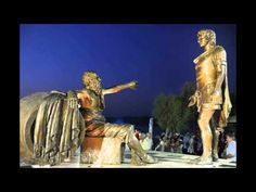 Statue of Alexander the Great & Diogenes in Corinth - YouTube