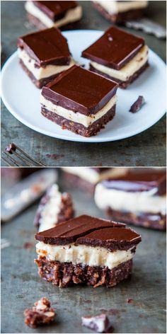 Nanaimo Bars - 3-layer no-bake bars with a chocolate/coconut/graham/almond base, filled with buttercream & topped with more chocolate! Rich isn't even the word! So good!