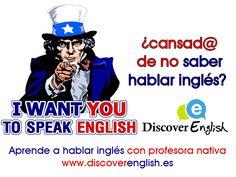 ¿estás cansad@ de recibir clases de inglés y no poder tener una conversación fluida en inglés? aprende a hablar inglés con nuestra profesora nativa, ven e infórmate en www.discoverenglish .es