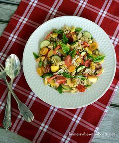 DSC_4797-001 Farmer's Market Pasta Salad w/peaches