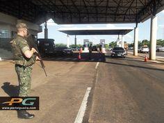 Ponto da Notícia :: Operação Fronteira Sul: Exército realizam operação na Ponte Ayrton Senna, em Guaíra