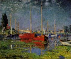 Pleasure Boats at Argenteuil by Claude Monet - Find Monet, Van Gogh, Renoir, and More at OilPaintings.com