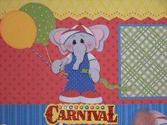 Carnival / Boy / Girl - TWO Premade Scrapbook Pages Layout 12x12