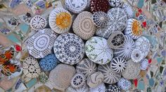 Lovely stones with crochet covers by Margaret Oomen