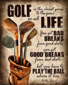 Bobby Jones Golf devis impression photo affiche par quotograph