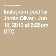 Instagram post by Jamie Oliver • Jun 18, 2019 at 6:26pm UTC Instagram Accounts, Instagram Posts, Wedding Stage, Jamie Oliver, The Good Old Days, Weird Facts, My Photos, 18th, Photo And Video