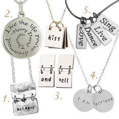 Cute  Inspirational Sayings Necklaces