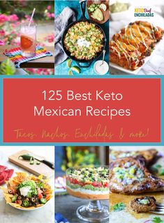 This collection of 125 Best Keto Mexican Recipes contains all of your favorite Mexican restaurant classics, made low carb and keto friendly! We've got Keto Mexican dinner recipes, snacks, condiments, and even breakfast and cocktails covered! Healthy Recipes, Ketogenic Recipes, Low Carb Recipes, Healthy Snacks, Ketogenic Diet, Free Recipes, Snacks Recipes, Keto Snacks, Easy Recipes