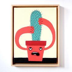 "Kunstdruck ""Kaktus"" als Wanddeko / art print ""cactus"" as wall decoration by Zubinski Products via DaWanda.com"