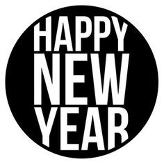Silhouette Design Store: happy new year circle