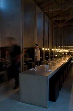 Lighting by PSLab for Soma Architects on Workshop Kitchen and Bar, Palm Springs.