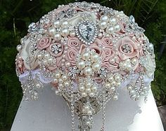 ANTIQUE PINK Bridal Brooch Bouquet - DEPOSIT For this Beautiful Antique Pink Brooch Bouquet, Pink Bouquet, Bouquet, Broach Bouquet, Bouquet