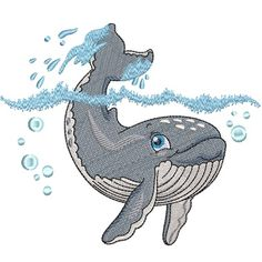 Baby Humpback Whale embroidery design collection is digitised for the inch hoop x and is available in ART DST EXP HUS JEF PES VIP and XXX formats Humpback Whale, Whales, Vip, Embroidery Designs, Baby, Collection, Baleen Whales, Whale, Babys
