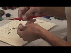 *Paul Antonio -- How To Apply Calligraphy Tools-- pencil, double pencil, markers, fountain pens, dip pens, reservoirs, curing nibs, inks, papers, thinning gouache with distilled water, quills, Listen to the sound the pen and quill make on the paper! Links to his other videos are on the right.