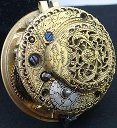 Fusee VERGE SQUARE PILLAR Pocket Watch Movement William Trent London c1770