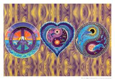 peace love and happiness   Plakate & Poster online bestellen