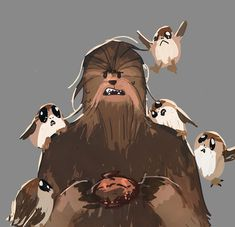 Two of my favourite Star Wars characters. Chewbacca, Star Wars Personajes, Star Wars Episode Iv, Bae, Star Wars Fan Art, Star War 3, The Force Is Strong, Last Jedi, Reylo
