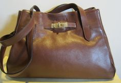 Splendid brown leather shoulder bag, OLIVIER STRELLI,
