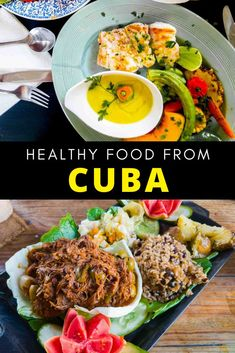 Traditional Cuban food is not only delicious but much of it is healthy too! Here are some easy Cuban recipes that are full in flavour like ropa vieja, picadillo, cuban flan, cuban rice, Cuban chicken fricassee, bistec encebollado,Bistec de palomilla, arroz con pollo, Cuban black bean and more #Cuba #Cubanfood Cuban Recipes, Keto Recipes, Healthy Recipes, Traditional Cuban Food, Plantain Soup, Cuban Rice, Chicken Vegetable Stew, Cuban Chicken, Slow Cooked Pulled Pork