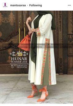 Pakistani Fashion Casual, Iranian Women Fashion, Abaya Fashion, Muslim Fashion, Kimono Fashion, Fashion Dresses, Abaya Style, Hijab Style Dress, Mode Kimono