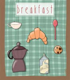 Breakfast by Nicole Curti, via Behance