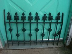 SALE 50% OFF NOW antique ornate iron gate  iron  window guard