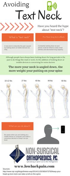 "Avoiding ""text neck"" #neckpain Repined by Spine & Rehab Specialists http://www.spinerehab.net/"