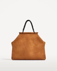 SPLIT SUEDE TOTE BAG-Leather-BAGS-WOMAN | ZARA United States