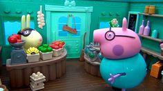 Peppa Pig in italiano. Caramelle per Peppa Pig e George. Papa Pig va a c...