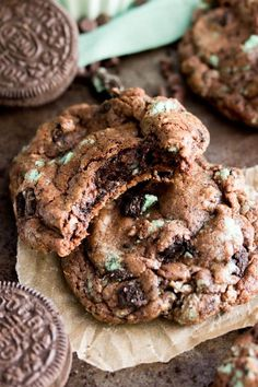Richly chocolate cookies studded with mint Oreo pieces -- these Chocolate Mint Oreo Cookies are deliciously irresistible. I remember toowell my first experience with mint/chocolate anything.