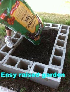 Raised garden the easy way.