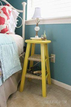 Idee fai da te per la camera da letto - I comodini. Come creare dei comodini fai da te con materiali riciclati.
