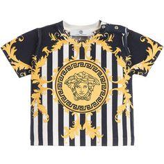 8c6e1d72 Medusa Blue Gold Baroque Print T-shirt at PureAtlanta.com Versace Jeans,  Versace