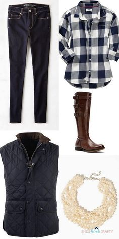 Navy and Chambray Fa