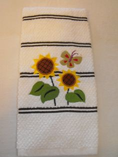 Country Sunflower Kitchen Towel by familytreasures4 on Etsy, $8.00