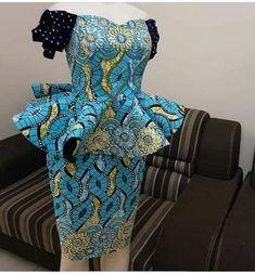 latest ankara short skirt and blouse styles check out stylish ankara shor. from Diyanu African Fashion Ankara, Latest African Fashion Dresses, African Print Fashion, African Wear, African Attire, African Lace Styles, Short African Dresses, African Blouses, African Print Dresses
