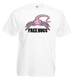 £9.99 FREE HUGS #Alien Movie #T-Shirt Size M/L/XL/2XL/3XL/4XL/5XL Face #Hugger - WorldWide Delivery