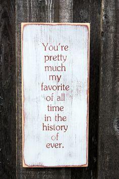 Handpainted Wooden Sign - $35.00, via Etsy. (for mom)
