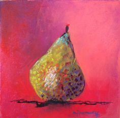 99 pears later, day 5 Marie-France Oosterhof pastel 20x20 cm
