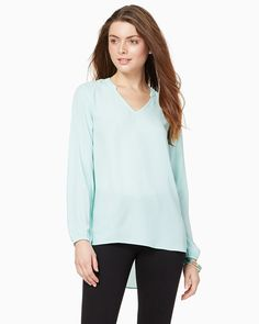 charming charlie | Essential V-Neck Blouse | UPC: 400000026589 #charmingcharlie