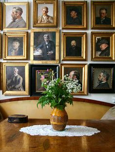 In the art-filled home of Danish painter Michael Ancher (1849-1927), a wall filled with wonderful portraits of men